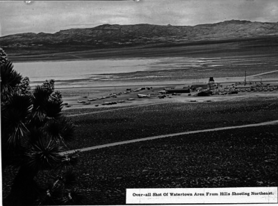 A rare perspective on Area 51 looking northeast in 1955