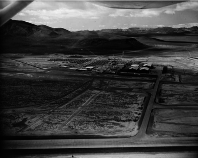 Area 51 as seen from the air, circa 1964