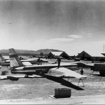 """Early U-2 (spy planes) on the flight line at Area 51 in 1956"
