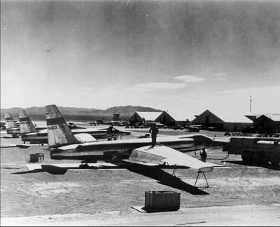 """""""Early U-2 (spy planes) on the flight line at Area 51 in 1956"""