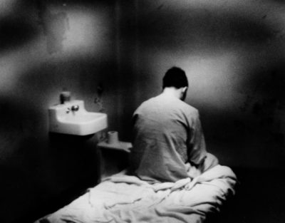 Berkowitz in isolation cell at Kings County Hospital in 1977