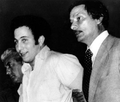 David Berkowitz taken to police headquarters on Aug. 11, 1977