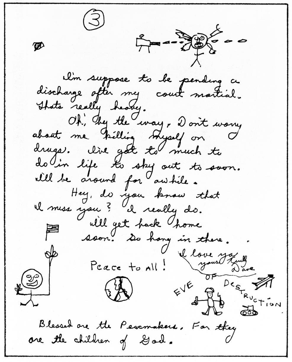 Part of letter written by Berkowitz - written by Bertkowitz in 1972 while stationed in Korea