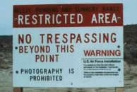 Restricted Area signs around Area 51