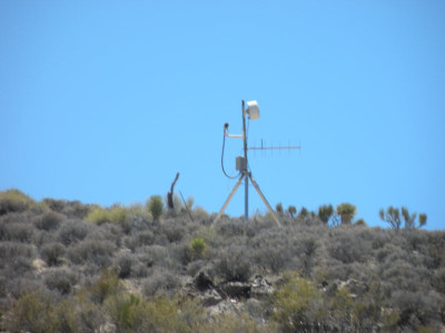 Closed-circuit TV camera monitoring the security perimeter of Area 51