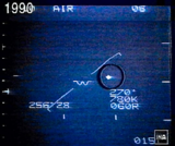 Belgium military radar screen showing the diamond shaped UFO echo