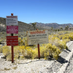 Signs on the security perimeter of Area 51