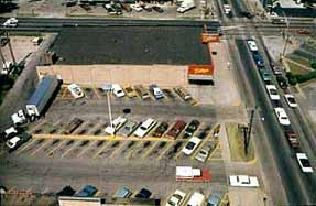 Dillons Parking Lot where the Otero Vehicle was found. Click for full view.