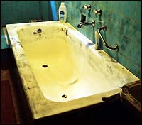 Bathtub that Brandes bled out in