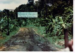 Entrance to Jonestown