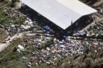 Ariel view of bodies in Jonestown