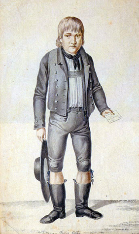 Contemporary painting of Kaspar Hauser