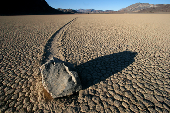 A slithering rock at Death Valley's Racetrack
