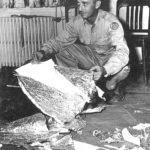 Jesse Marcell showing Roswell crash debris