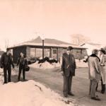 Investigators outside the home of John Wayne Gacy
