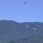 During a wedding at Lake Morris in north Queensland this unidentified flying object was spotted in one of the photos