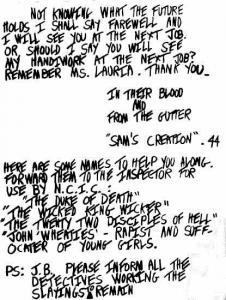 Son of Sam letter