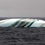 Black and white striped iceberg