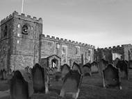 Cemetery at St. Mary's Church in Whitby, England