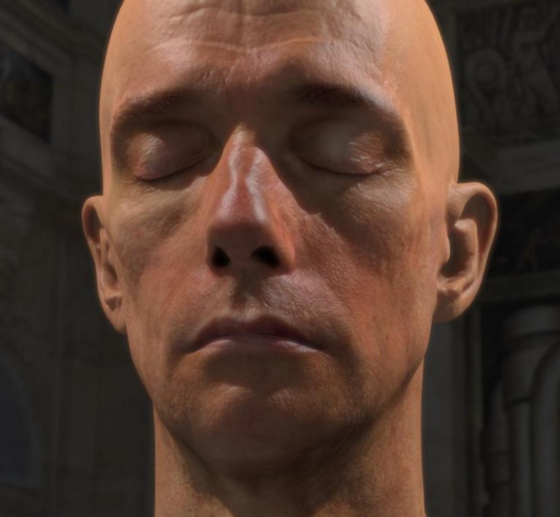 Human head (rendered with nVidia graphic card)