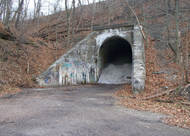 Piney Fork Tunnel also known as The Green Man Tunnel