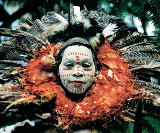 African witchdoctor in Kenya wearing tribal dress