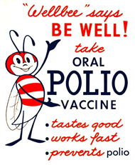 Poster encouraging citizens to get polio shots