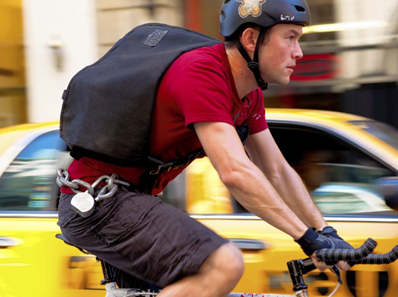 New York City bike messenger from the movie Premium Rush