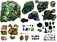 The found fragments of the Antikythera Mechanism