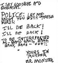 Son of Sam - David Berkowitz letter