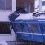 Stolen train crashed into apartment building in Stockholm