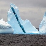 Iceberg with dark stripe
