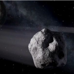 Asteroid approaching Earth thumb