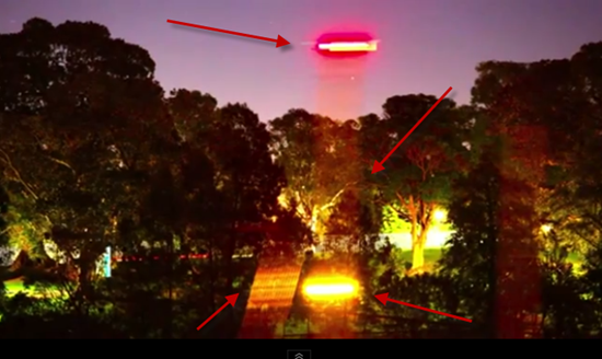 Russell Crowe UFO video with arrows showing sailboat elements