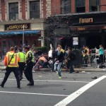 Panicked civilians after the Boston Marathon attack