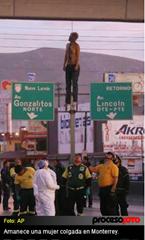 Los Zetas drug cartel victim hung from highway overpass