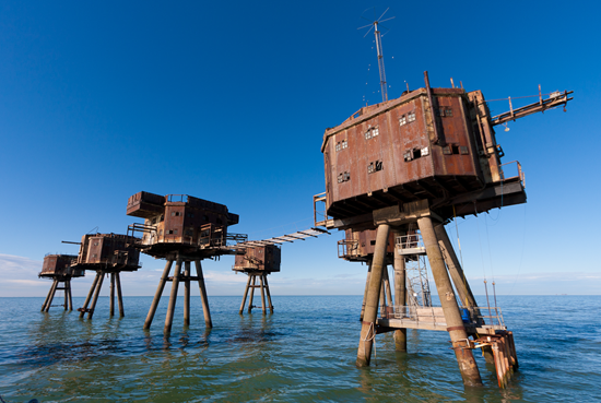 Abandoned Maunsell Forts in UK