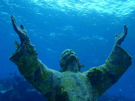 Christ of the Abyss in Liguria