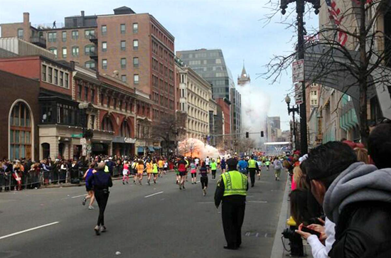 Suspicious person on rooftop skuttles away after the Boston Marathon bombing