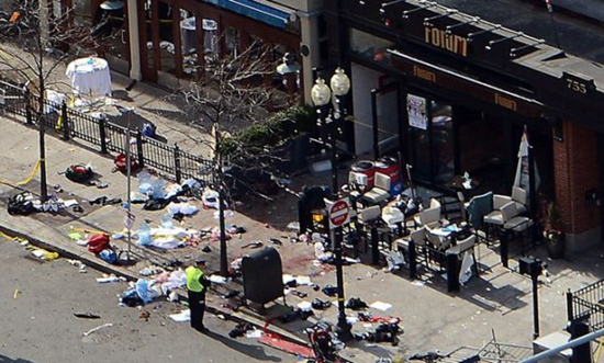 Photos of the aftermath lend further evidence that the white bag was the source of the Boston Marathon bomb