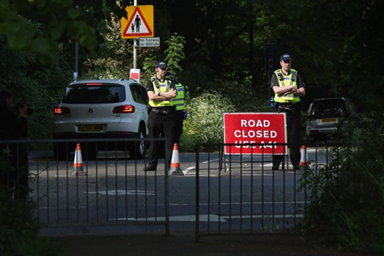 Tight security outside the 2013 Bilderberg Conference