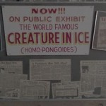 "Signs advertising the ""world famous"" Create in Ice"