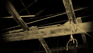 Rafters that previous occupants hung themselves from