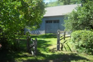 The barn behind the Harrisville Perron haunted house