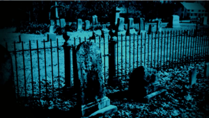 The old Arnold cemetery where many inhabitants of the home were buried - Bathsheba's gave is on the right