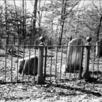 The old Arnold cemetery where many inhabitants of the home were buried - Bathsheba's gave is on the left