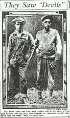 Fred Beck and LeRoy Smith - 9 days after the attack (July 19, 1924)