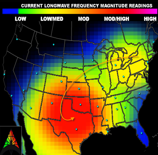 HAARP current longwave frequency magnitude readings - 7/14/13