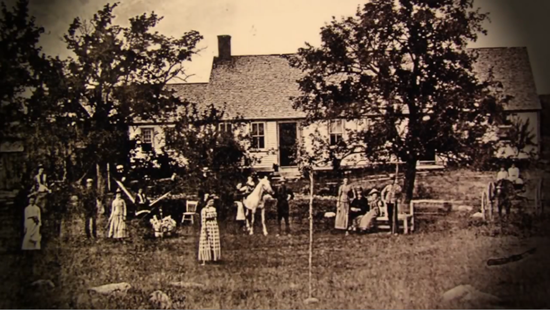 Oldest surviving photograph of the Harrisville Haunted home
