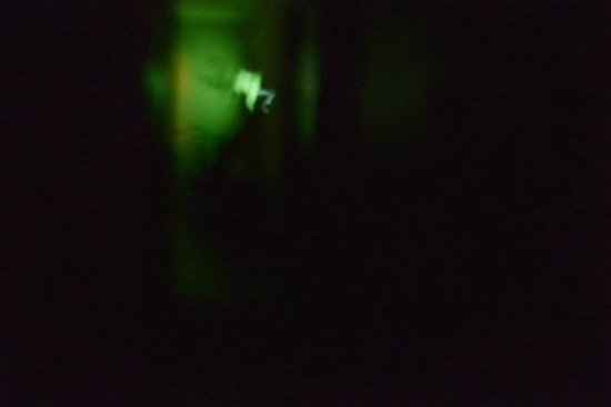 Ghostly glowing blob filmed in the home's hallway